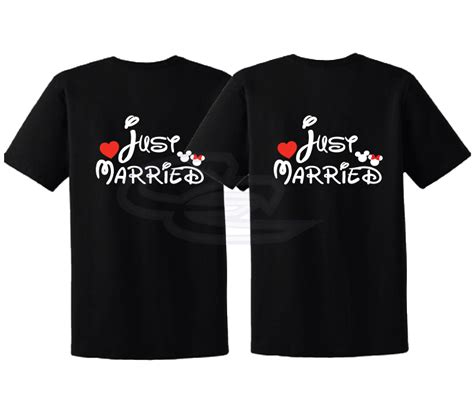 Mickey Mouse Minnie Mouse Disney A83 Kaos Family T Shirt just married mickey minnie mouse disney matching shirts married with mickey