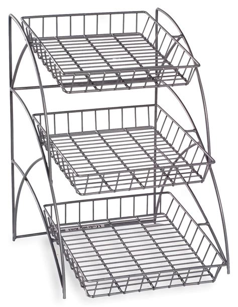 Metal Wire Rack by 3 Tray Metal Wire Rack