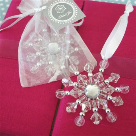 Wedding Favors Ornaments by Beaded Snowflake Ornaments Winter Wedding Favors