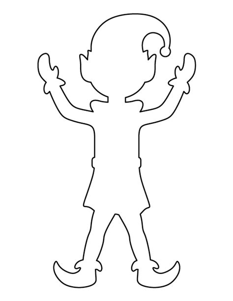 Printable Elf Stencils | elf pattern use the printable outline for crafts