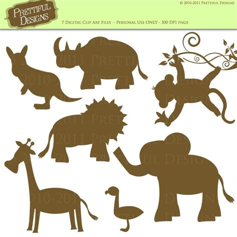 printable zoo animal silhouettes 74 best images about silhouette on pinterest black and
