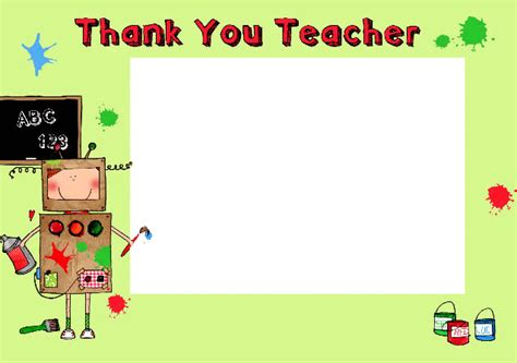 thank you cards template for teachers 13 best photos of thank you card format thank