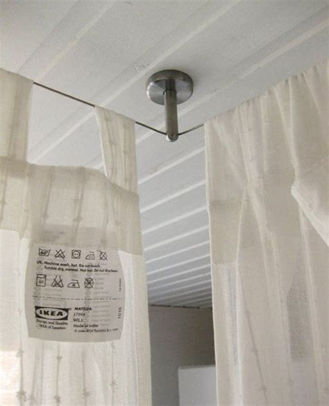 make a bed canopy with curtain rods 25 best ideas about curtain rod canopy on pinterest