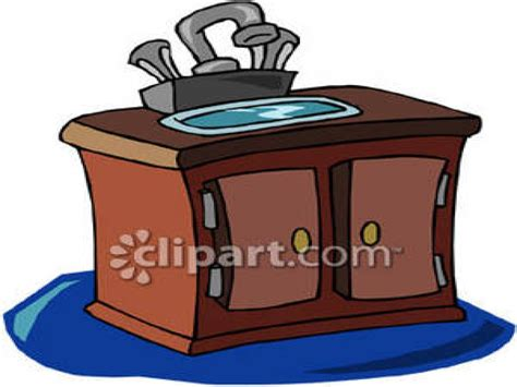 Free bathroom vanity, bathroom sink and counter clip art