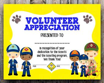 Cub Scout Advancement Card Templates Packmaster by Cub Scout Printables Etsy