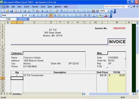 image gallery excel 2003 templates