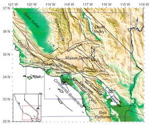southern california topographic map topographic map