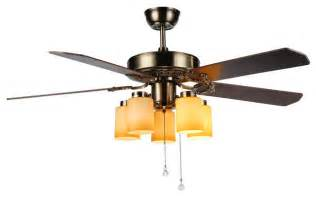 Yellow Ceiling Fan Ceiling Fan With 5 Yellow Cylinder Glass Shade Lights
