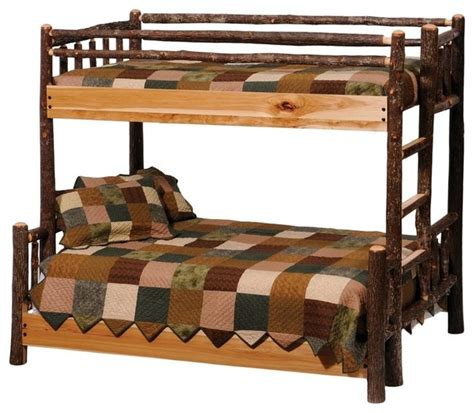 rustic bunk bed shop houzz fireside lodge furniture company hickory log