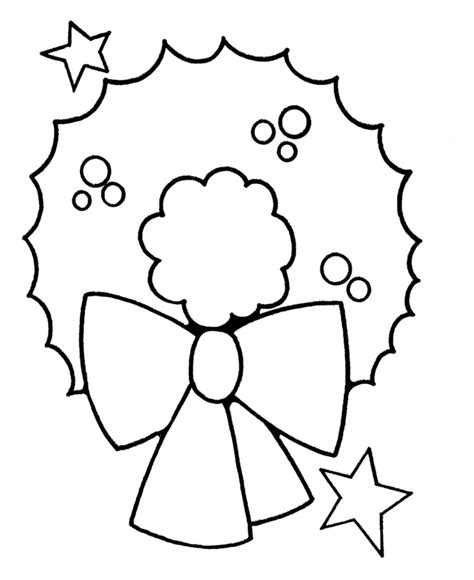 preschool xmas coloring pages pre k christmas coloring pages christmas wreath