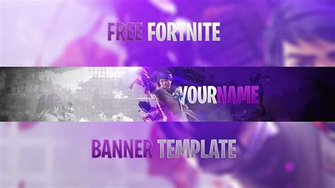 Free Best Fortnite Youtube Banner Template 2018 How To Edit Youtube Fortnite Banner Template