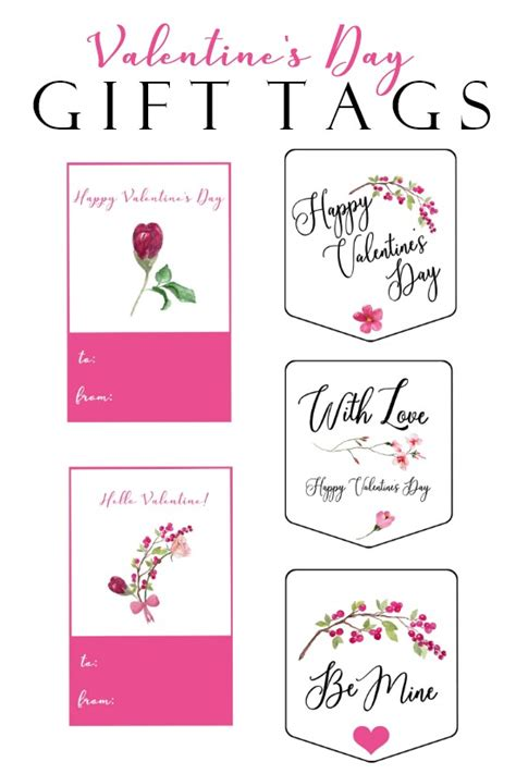 printable valentine tags pinterest valentine s day free printable gift tags on sutton place