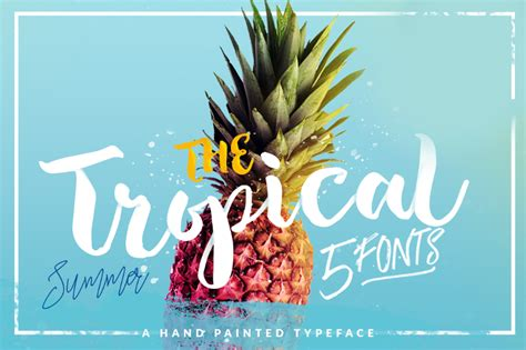 tropical script font befontscom