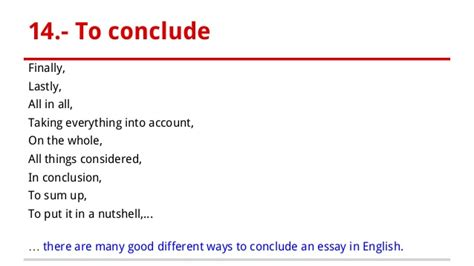 Linking Words To Conclude An Essay by Linking Words To Conclude An Essay Rpolibraryutoronto