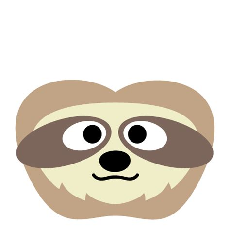 sloth mask template printable sloth mask