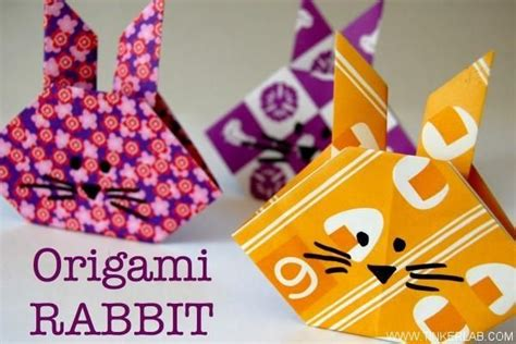 origami rabbit tutorial diy tutorial diy easter crafts diy origami rabbit