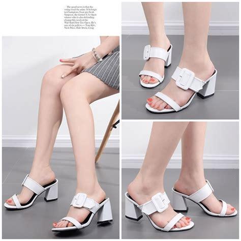 Highheels Import Wanita jual shh661 white sepatu heels import wanita 8cm