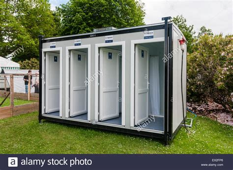 Portable Shower Units by Portable Shower Unit With Four Individual Showers Stock