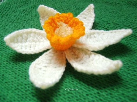 crochet daffodil flower tutorial craft ideas