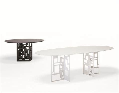 tavolo da pranzo ovale tavolo ovale con piano in vetro adatto per sala da