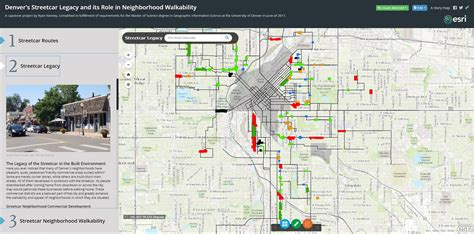 A Section On A Map That Explains The Maps Features by Denver S Historic Streetcar Legacy Denverurbanism
