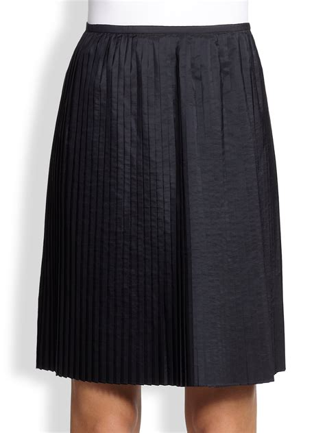 jil sander navy pleated skirt in blue blue lyst