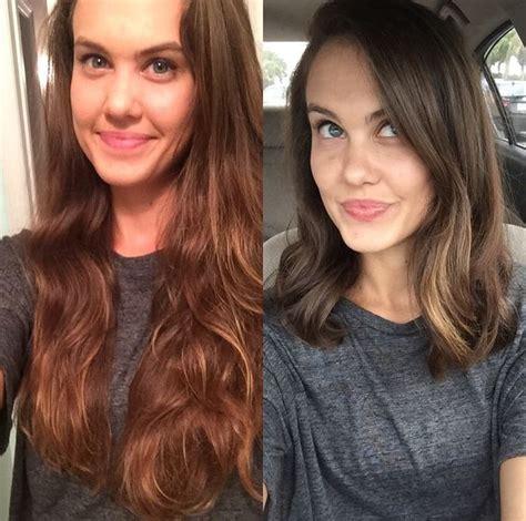 before and after long hair to lob 22 exemples de coiffures avant apr 200 s pour changer de look