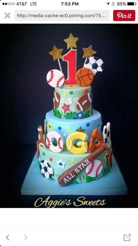 Sport Boy 10 17 best ideas about sports birthday cakes on