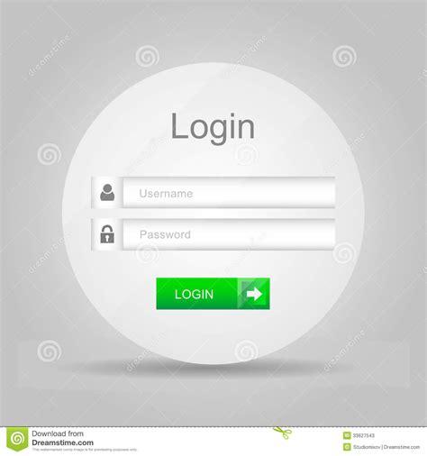 vista pe password reset vectorlogin interface gebruikersbenaming en wachtwoord