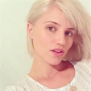 platinum blonde makeovers dianna agron debuts new shorter platinum blonde hairdo in