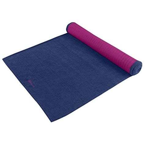 Substitute For Mat by Gaiam Grippy Mat Towel Blue Fuchsia
