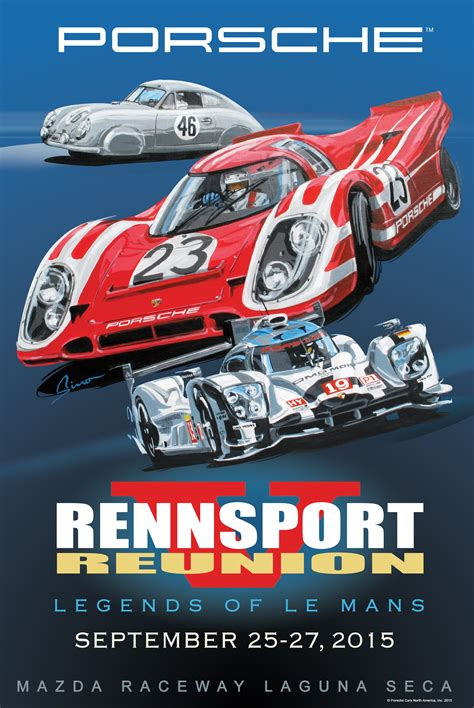 Porsche Poster by Here Are All 5 Official Rennsport Reunion Posters Flatsixes