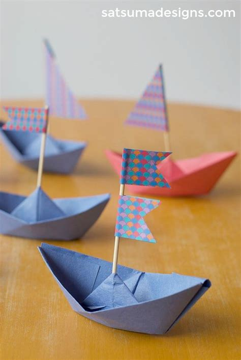 how to make paper new boat how to fold a paper boat paper boat garland satsuma