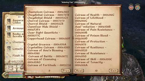 oblivion console oblivion console commands