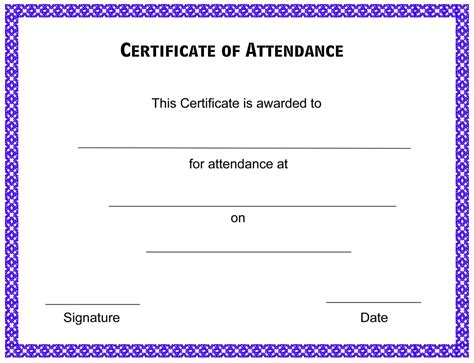 conference certificate of attendance template certificate of attendance template free formats excel word