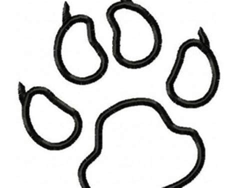 coloring page tiger paw panther paw etsy