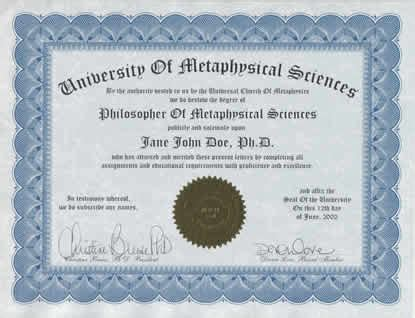Mba Credentials After Name by Metaphysics Degree Metaphysical Degree Degree In