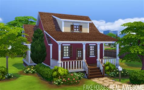 Cherry Dining Room Set little red bungalow at fake houses real awesome 187 sims 4