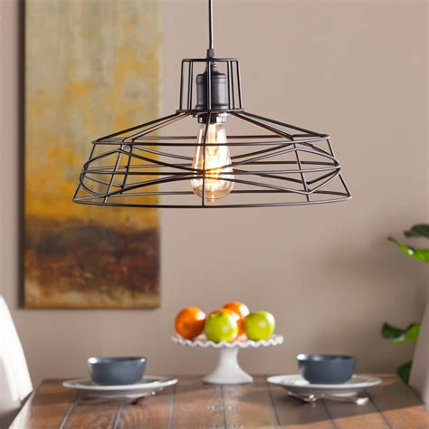 wire cage pendant light attaway 1 light matte black wire cage pendant l hd88203