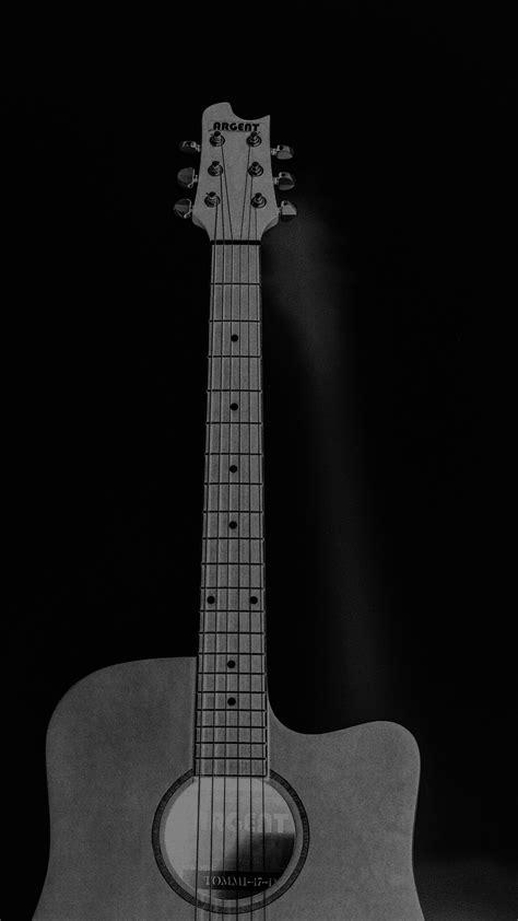 mw guitar art bw dark  song black wallpaper