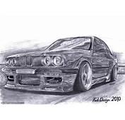 Download Hintergrund BMW Bleistift Kunst Autos Freie
