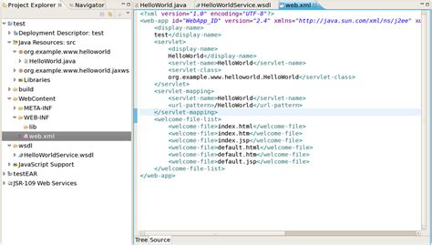 web xml chapter 3 creating a web service using jbossws runtime