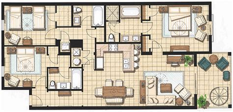 Floor Plans 3 Bedroom 2 Bath accommodations in key west key west hotel suites