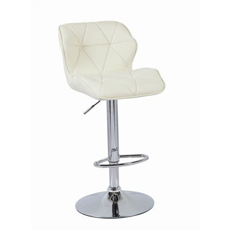 padded swivel bar stools cream modern uranus padded swivel faux leather breakfast