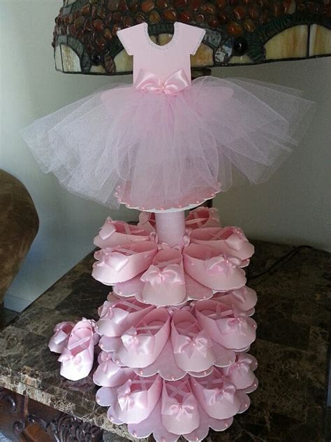 Ballerina Baby Shower Centerpieces by Three Tier Pink Ballerina Shoe Favor Stand With Shoe Favors