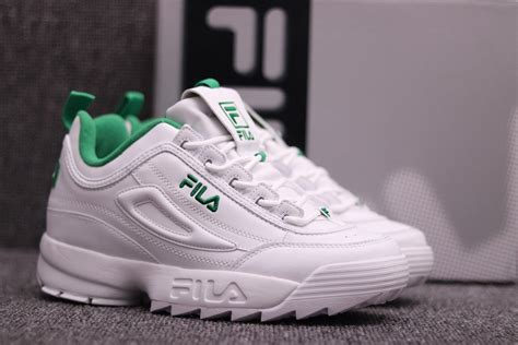 Fila Disruptor In White fila disruptor ii sneaker in white and green color sale