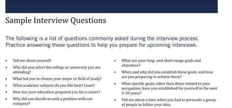 sample interview questions kelleyconnect kelley school