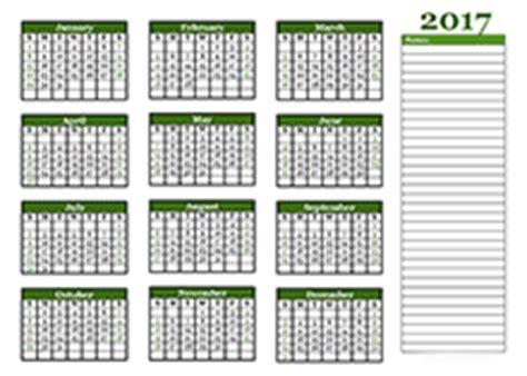 Yearly Book Or Calendar 2017 Blank Calendar Templates Free 2017