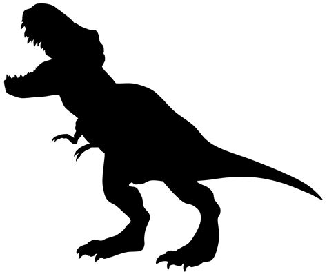 free clipart silhouette tyrannosaurus clipart silhouette clipground