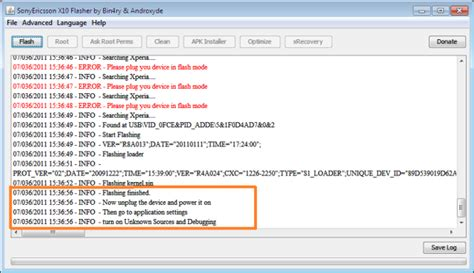 tutorial flash tool sony xperia android rooting xperia x10 using flashtool and superoneclick